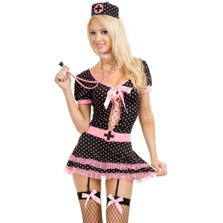 New Sexy Naughty Nurse Outfit Adult Halloween Costume L Womens U.S. Large (11-13) - Halloween Nurses Outfit