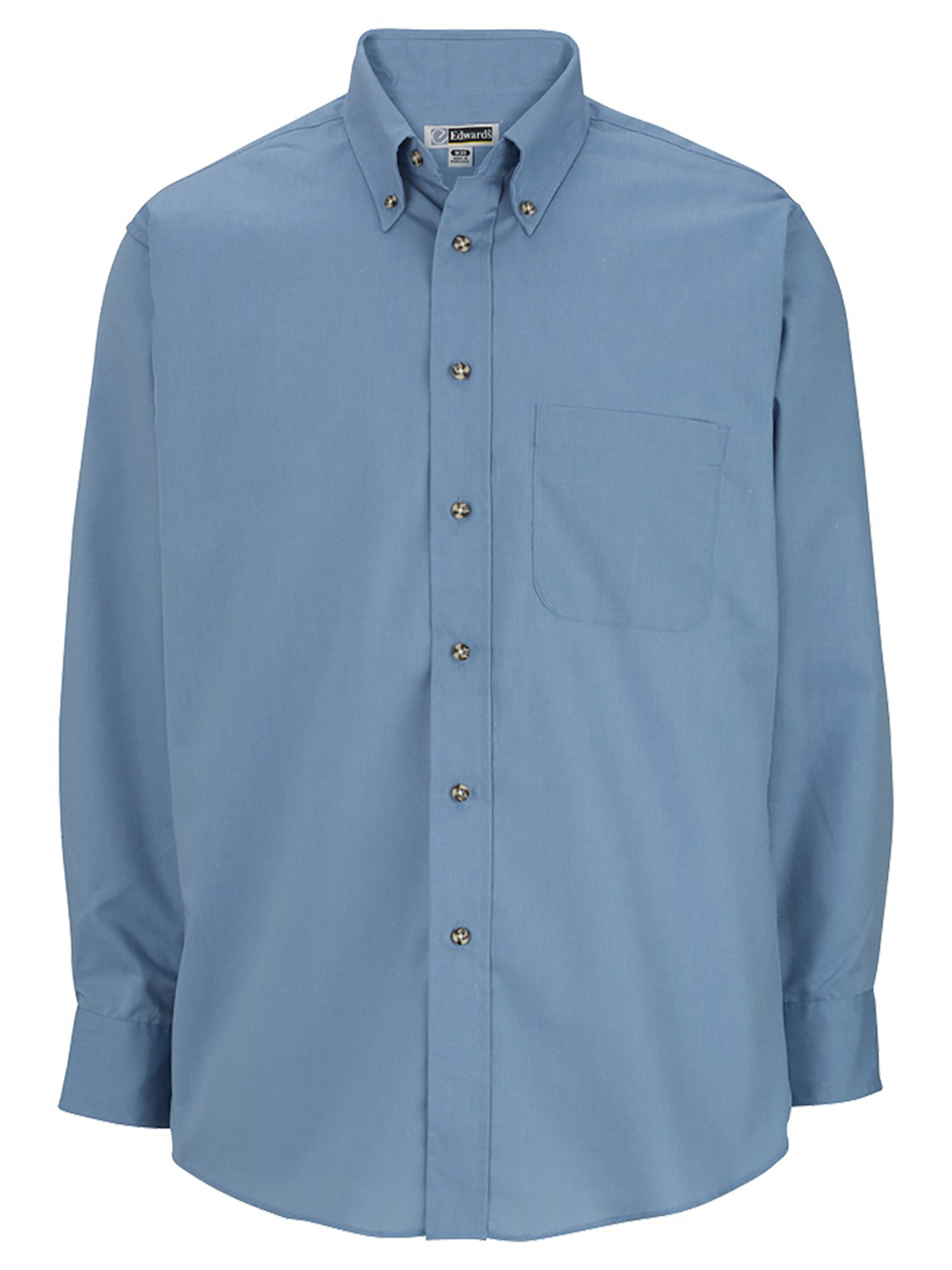 Edwards Garment Mens Long Sleeve Button Down Poplin Shirt/_TEAL/_Small 33
