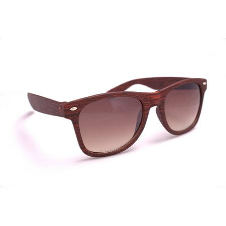 62eca1a34a599 Veil Entertainment - Veil Entertainment Faux Wood Gradient Lens Wayfare  Style Frame Sunglasses - Walmart.com