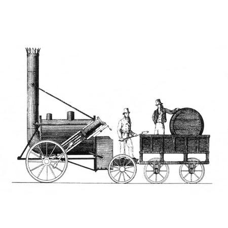 1829 Stephenson Rocket - Robert Stephenson Rocket 1829 Rolled Canvas Art - Science Source (24 x 18)