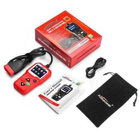 KONNWEI KW680 OBDII OBD Scanner Code Reader Car Diagnostic Scanner Engine  Fault Code Reader Detector Multi Language Automotive Scanner Auto Vehicle