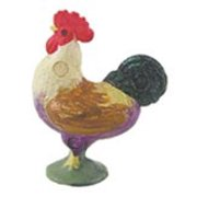 Dollhouse Crowing Rooster Small 1 Pc