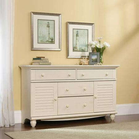 Sauder Harbor View Dresser, Antiqued White Finish
