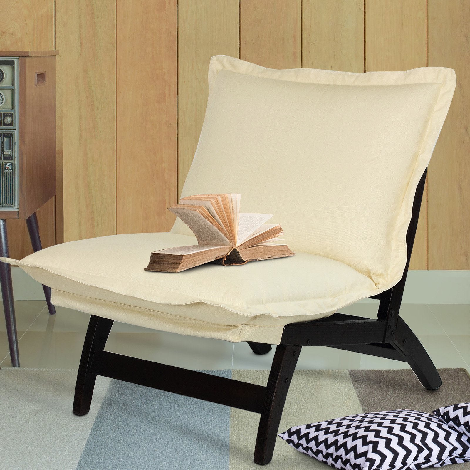 Casual Folding Lounger Chair-Espresso