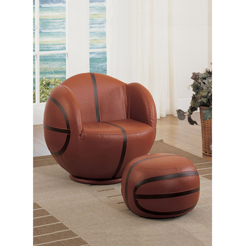 Acme All Star Basketball 2 Piece Chair And Ottoman Set