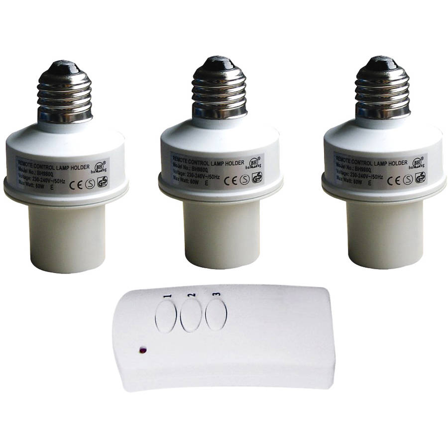 LED Concepts Remote Control Wireless Light Bulb Socket Cap Switch for Lamps