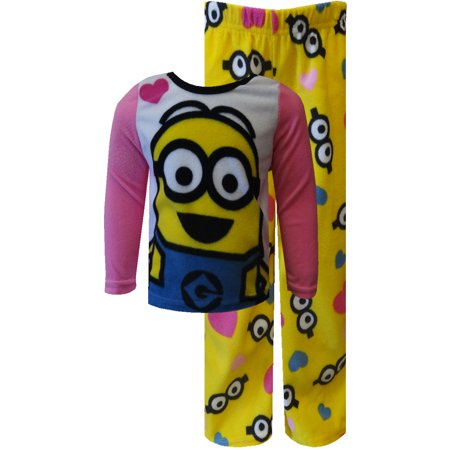 Despicable Me 2 We Love Minions Fleece Pajamas - Pink Minion