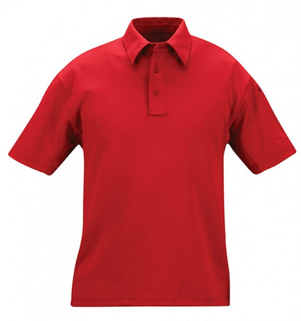 Propper Mens Red 94% Polyester I.C.E. Performance Polo - Short Sleeve (L) NEW