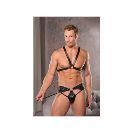 Allure Brief (Allure Lingerie AL-28-2042 Ring Harness & Brief Set L/XL / Black)