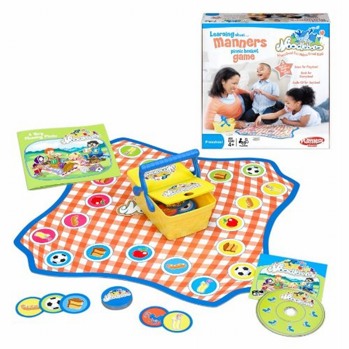Playskool Noodleboro Learning about Manners Picnic Basket Preschool Game