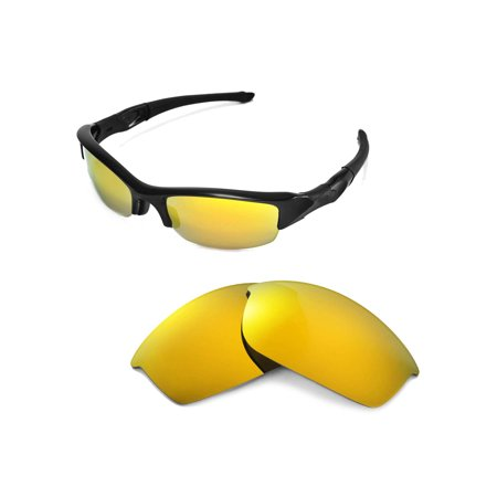 7068adcba5048 Walleva - Walleva 24K Gold Polarized Replacement Lenses for Oakley Flak  Jacket Sunglasses - Walmart.com