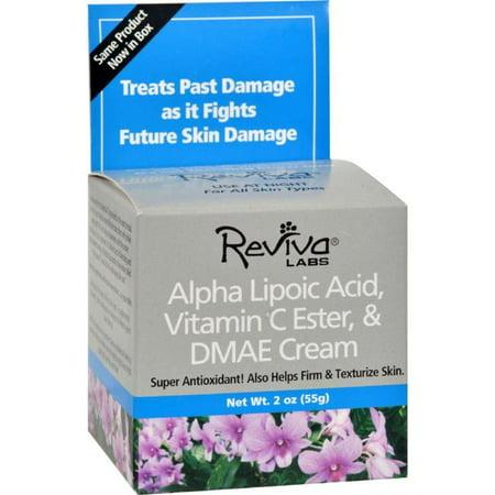 Reviva Labs HG0201483 2 oz Alpha Lipoic Acid Vitamin C Ester & Dmae Cream