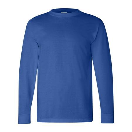 Bayside 6100 Adult Classic Style Preshrunk Heavyweight T-Shirt - Royal Blue - X-Large