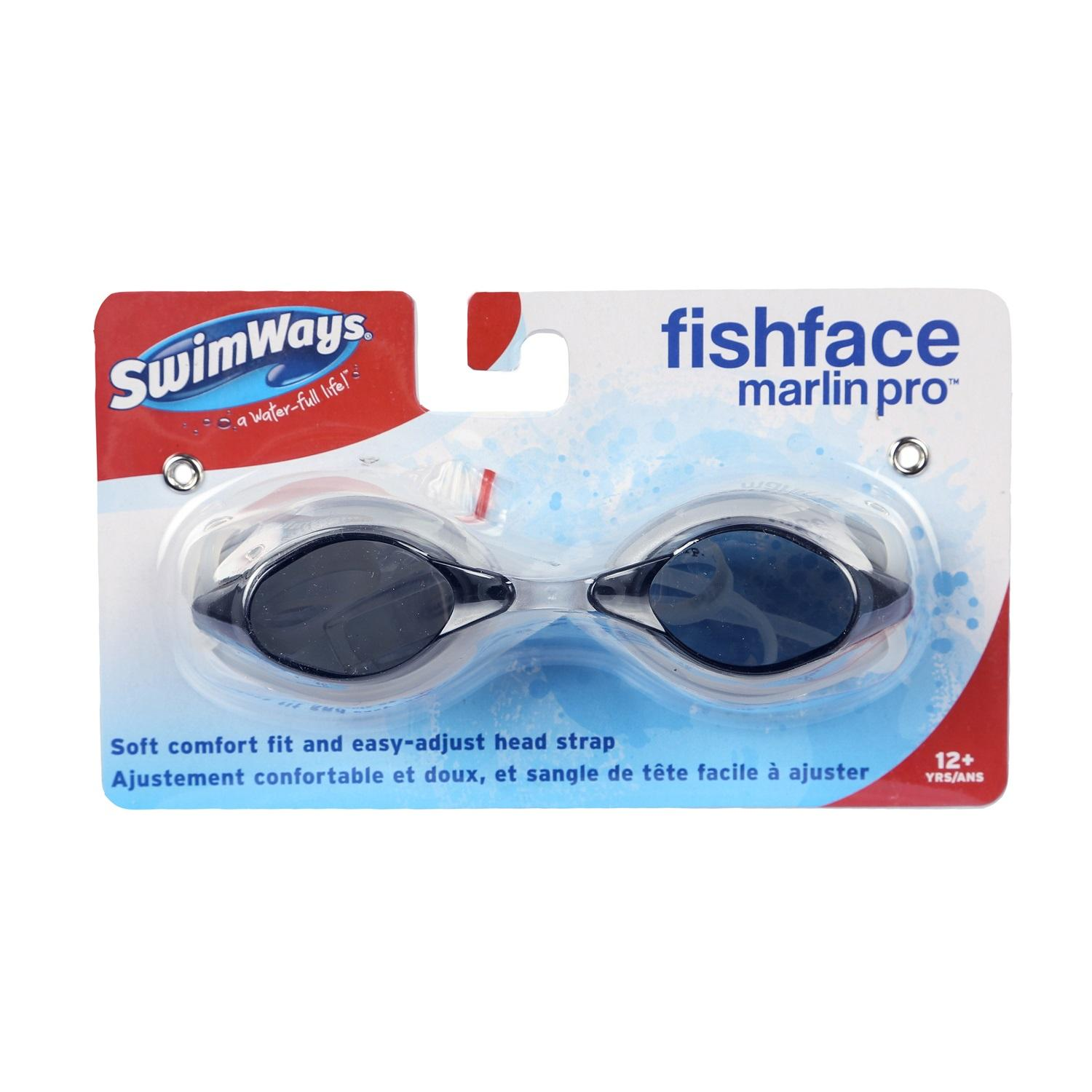 """5.5"""" Fish Face Marlin Pro Gray Goggles Swimming Pool Accessory for Teens and Adults"""