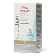 Wella Color Charm Permanent Liquid Hair Toner, T11 Lightest Beige Blonde, 1.4 Oz.
