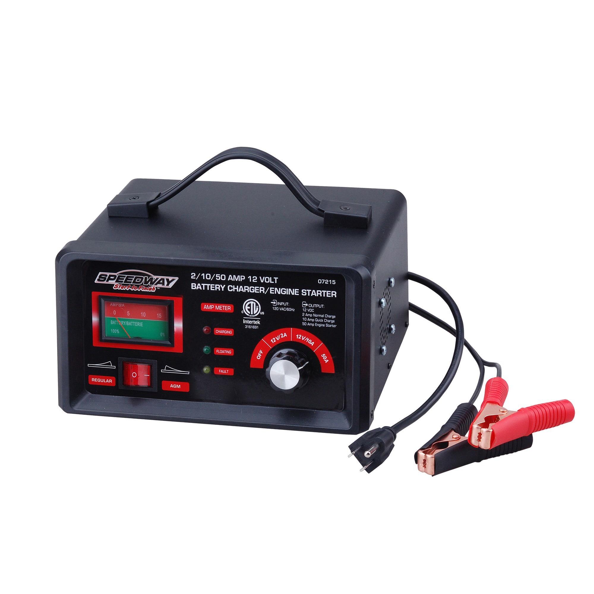 Speedway 2/10/50 AMP 12 Volt Battery Charger/ Engine Starter