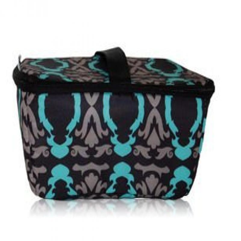 Blue Avocado BA300L-BBLK Black Baroque Food-on-the-Go lunch boxe large