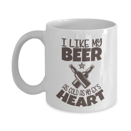I Like My Beer As Cold As My Ex's Heart Funny Drinker's Prayer With Graphic Bottles Coffee & Tea Gift Mug, Accessories, Party Decorations, Items And Beer Lovers Themed Gifts For Drinker Men & Women](Beer Themed Party Decorations)