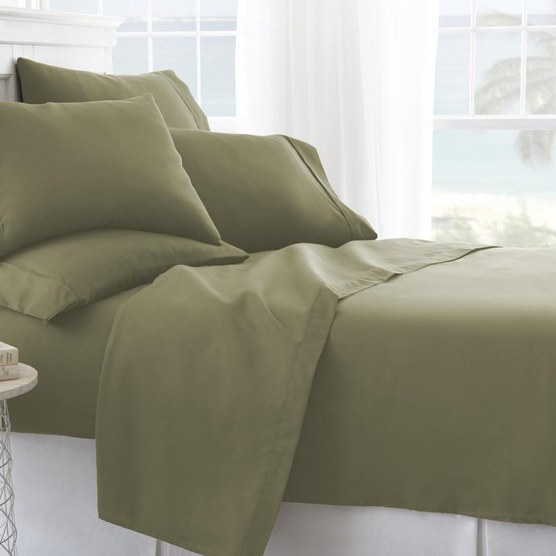 Noble Linens Premium Ultra Soft 6 Piece Solid Sheet Set