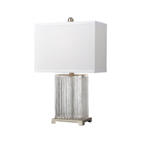 Table Lamps 1 Light With Clear Color Glass and Metal Medium Base 24 inch 9.5 Watts