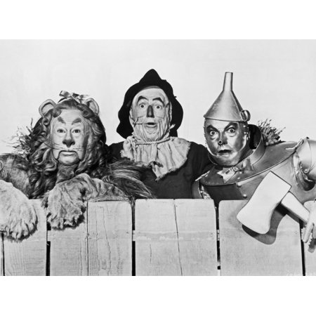 Wizard Of Oz Portrait Coward Lion, Scarecrow and Tinman Print Wall Art By Movie Star