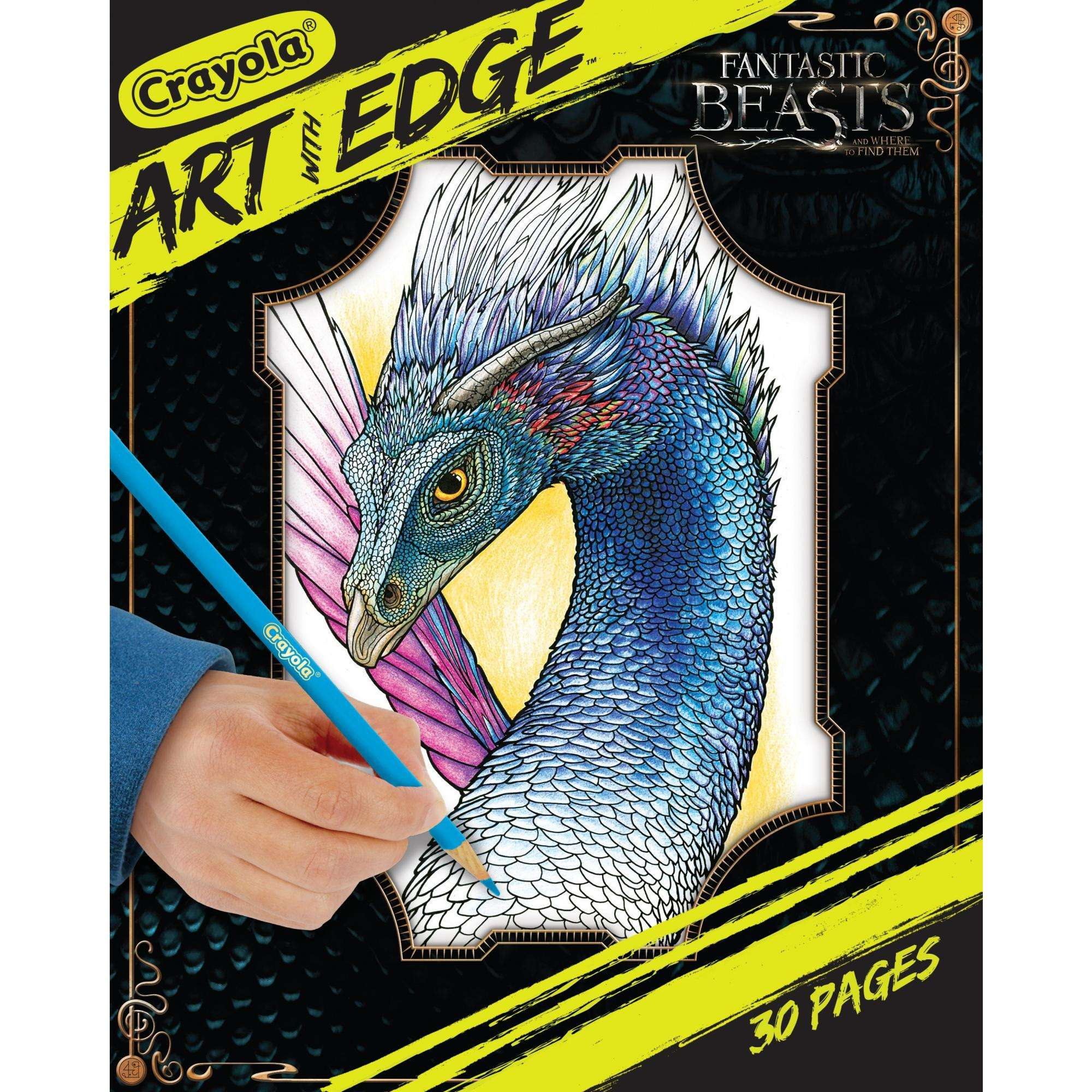 Crayola Art With Edge Fantastic Beast Coloring Book by Crayola