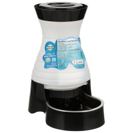 Gravity Water - PetSafe Healthy Pet Water Station™, Dog and Cat Gravity Water System with Stainless Steel Bowl, Small, 64 oz.