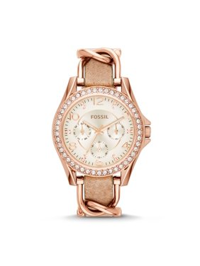 Fossil Women's Riley Leather Watch (Style: ES3466)