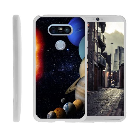 LG G5, H850, H830, H820, US992, G5 SE H845, Flexible Case [FLEX FORCE] Slim Durable TPU Sleek Bumper with Unique Designs - Planets Around the Sun