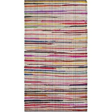 Recycled Rag Rugs - Safavieh Rag Petar Striped Area Rug or Runner
