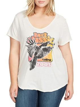 a9c009985e123 William Rast Premium Womens Plus Tops   T-Shirts - Walmart.com