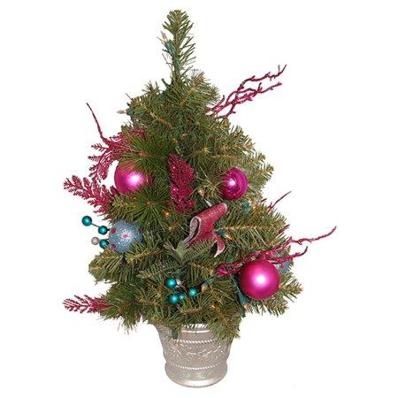 2' illuminée rose bonbons fantaisie Décorée artificielle arbre de Noël - lumières claires - image 2 de 2