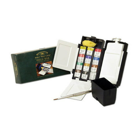 WINSOR & NEWTON / COLART 0190685 PROFFESIONAL WATERCOLOUR HALF PAN FIELD BOX SET