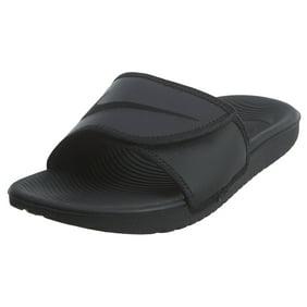 Nike Men's Kawa Adjustable Slide Sandals, Black/White, 10