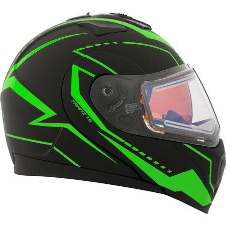 Double Helmet - CKX Vision Tranz 1.5 RSV Modular Helmet, Winter Electric Double Shield