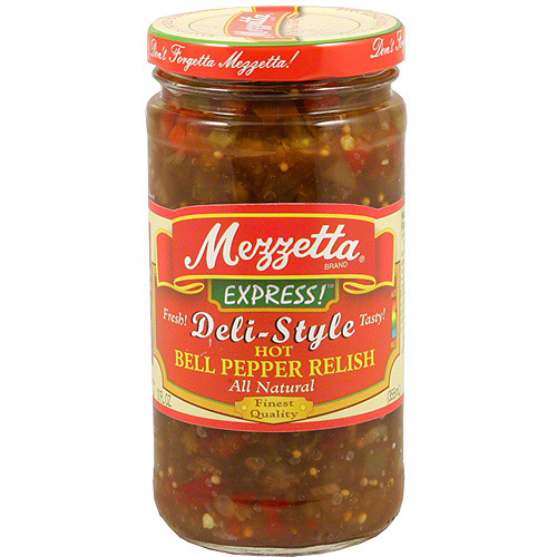 Mezzetta Express! Deli-Style Zesty Bell Pepper Relish, 12 oz (Pack of 6)