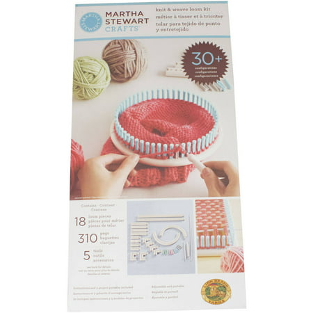 Lion brand yarn martha stewart crafts knit and weave loom for Martha stewart crafts knit weave loom kit