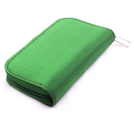 Nylon 22 Slots Storage Carrying Pouch Case Green for CF Micro SD Memory Card - image 1 of 4