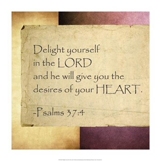 Pivot Publishing - A PPAPVP1500 Delight Yourself in the Lord -14 x 14 Poster Print