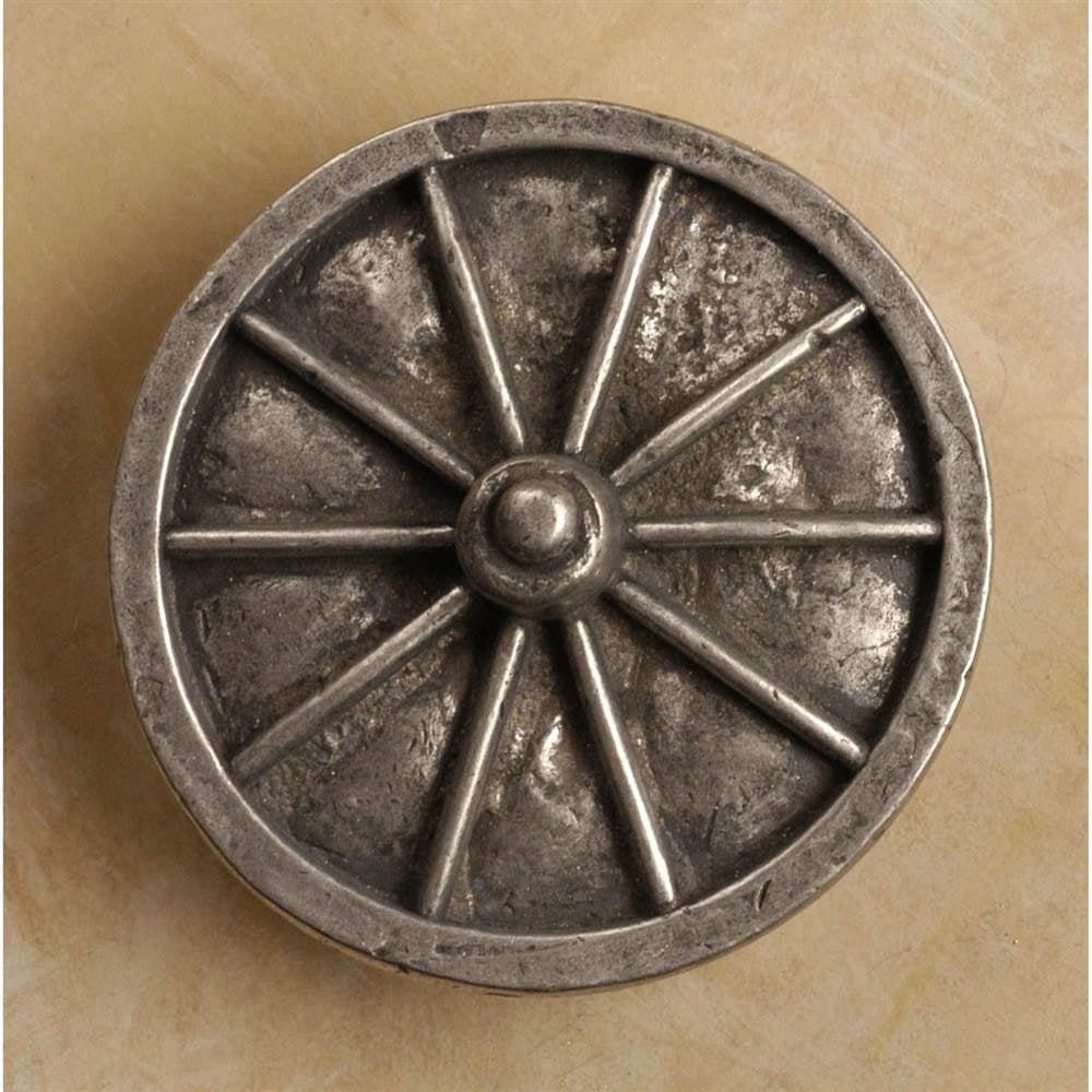 Wagon wheel-lg knob (Set of 10) (Antique Bronze)