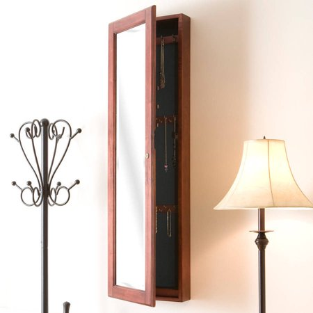 Vista Wall Mount Jewelry Armoire, Cherry