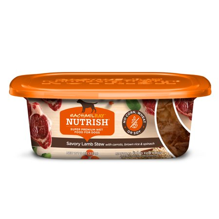 Halloween Savory Food ((4 Pack) Rachael Ray Nutrish Natural Wet Dog Food, Savory Lamb Stew, 8 oz)