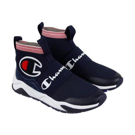 Champion Rally Pro Mens Blue Textile Athletic Slip On Training Shoes ()