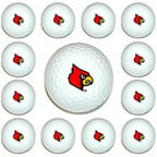 Team Golf 24203 Louisville Cardinals Dozen Ball Pack