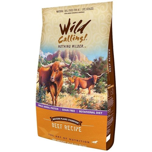 Wild Calling Western Plains Dog Food, Beef, 25 lbs