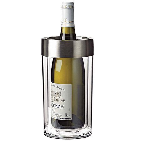 Wine Enthusiast Double-Wall Iceless Wine Bottle Chiller