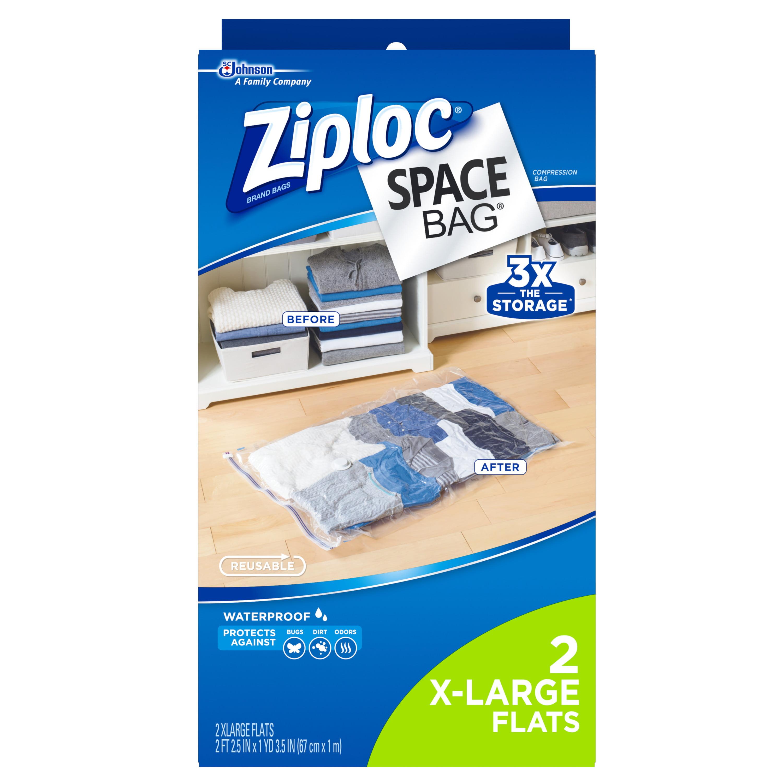 Ziploc Space Bag 2 count XL Flat Bag