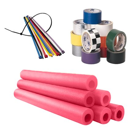 Foam Roll Bar / Cage Padding Installation Kit, Red