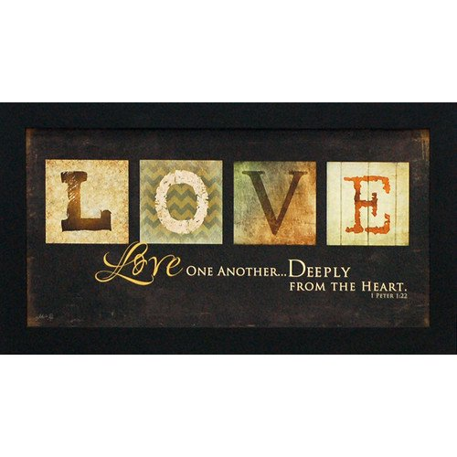 Artistic Reflections Love One Another By Marla Rae Framed Textual Art Walmart Com Walmart Com