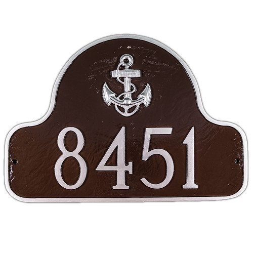 Montague Metal Products Inc. Anchor Arch Address Plaque